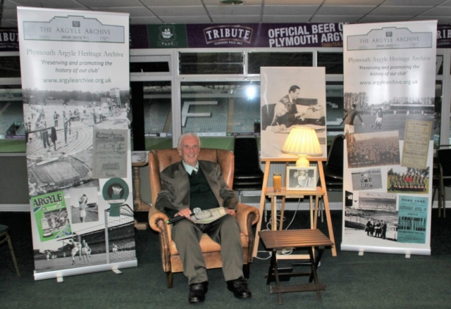 First to arrive, Graham Little tries out his chair for the evening