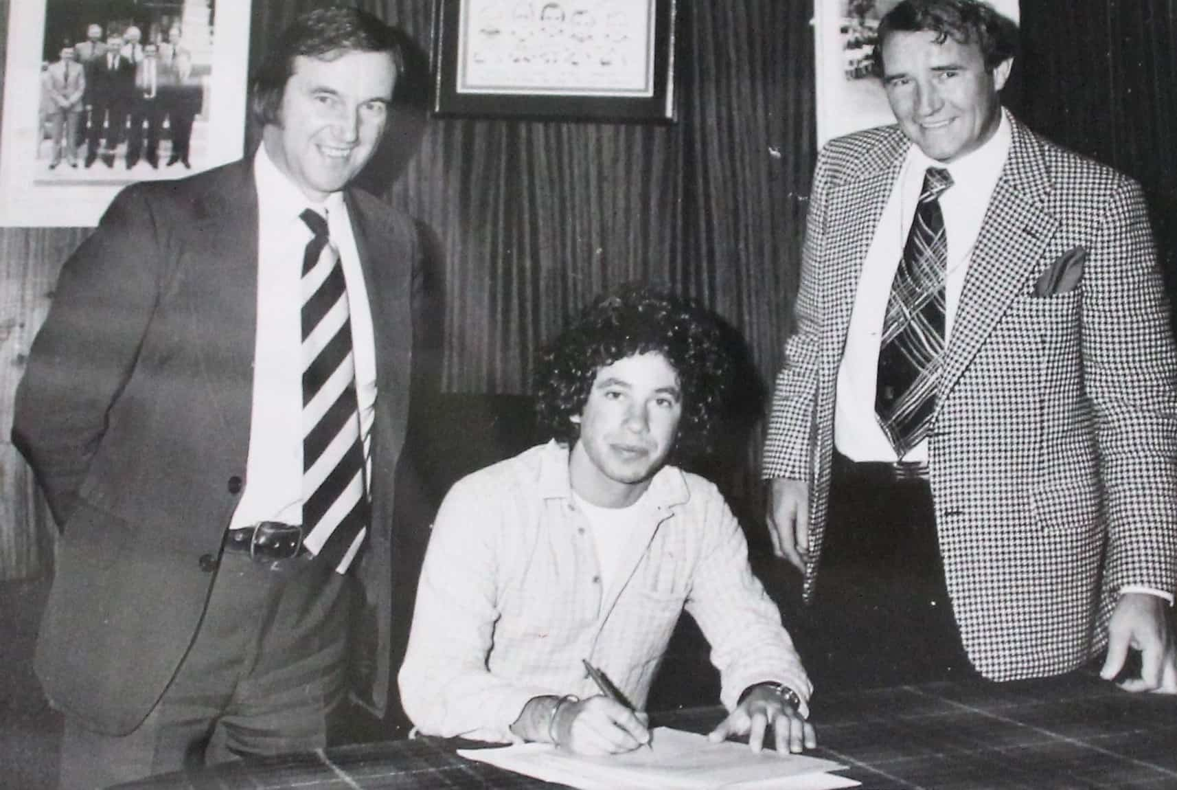 ... including the signing of Barry Silkman in 1978, pictured here with Malcolm Allison in his second spell as manager