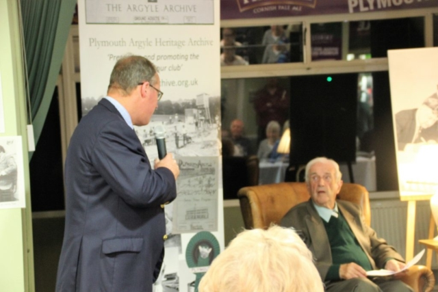 PAHA's chair, Russell Moore, thanks the star of the evening