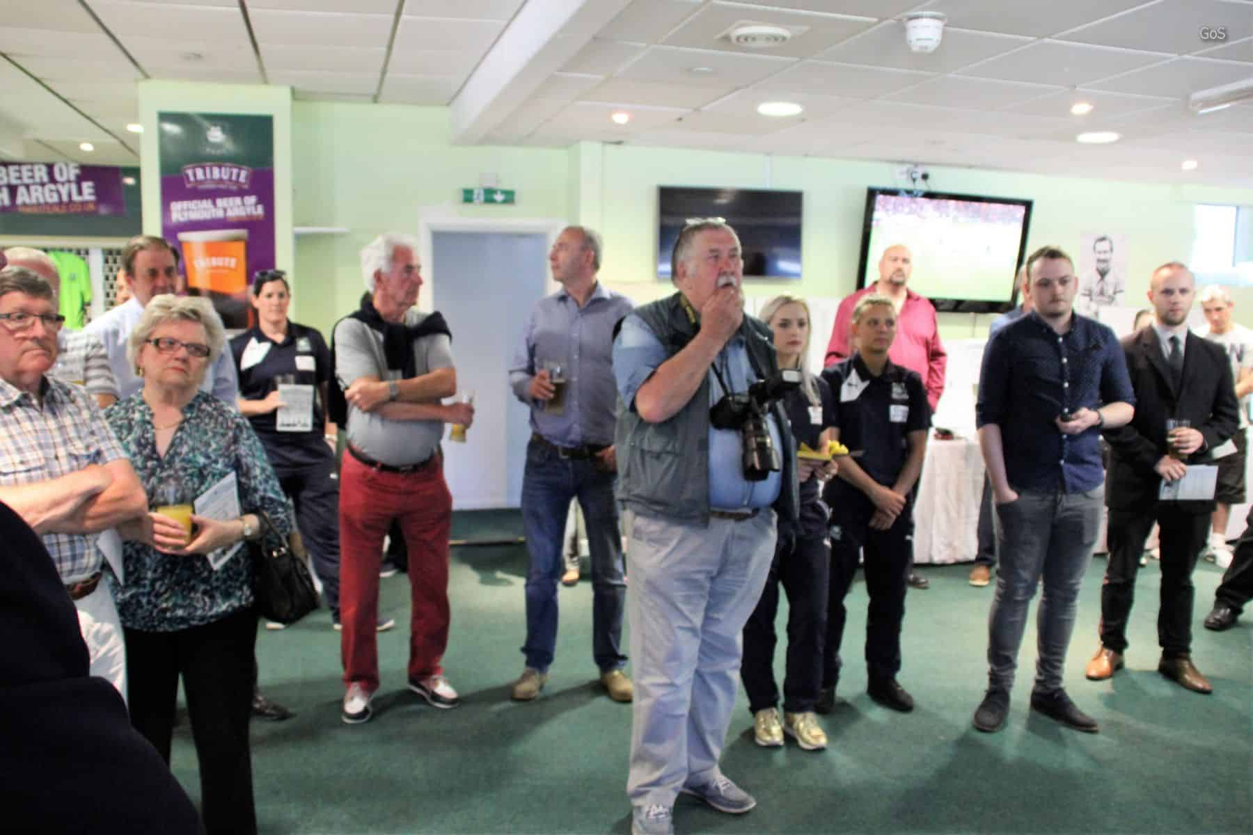 The press and some of the 60 invited guests at the opening evening