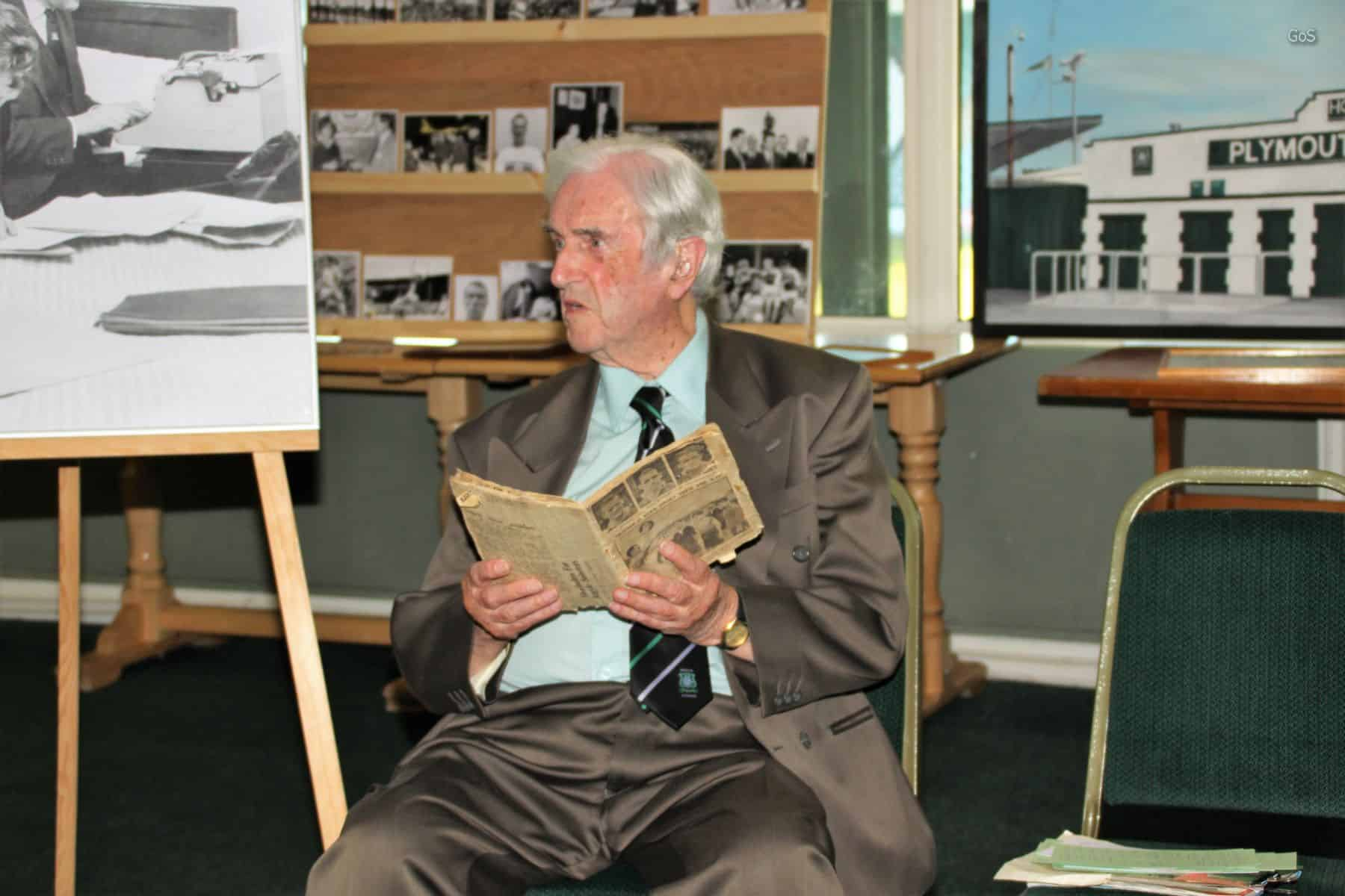 Special guest Graham Little told some wonderful stories from his time as club secretary