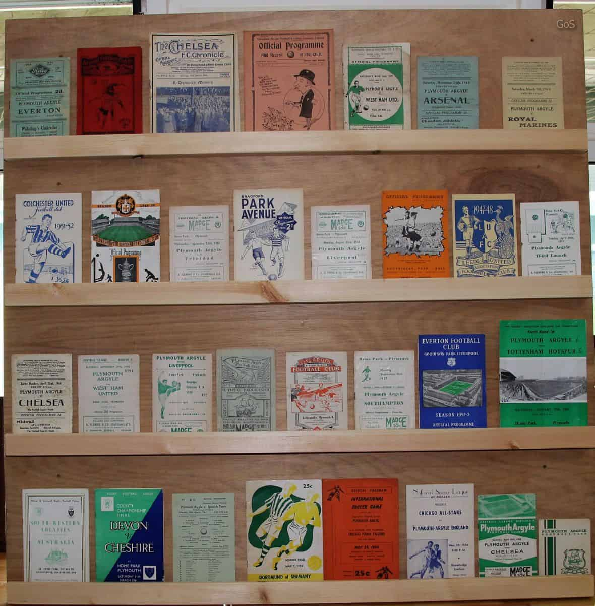 A selection of programmes on display