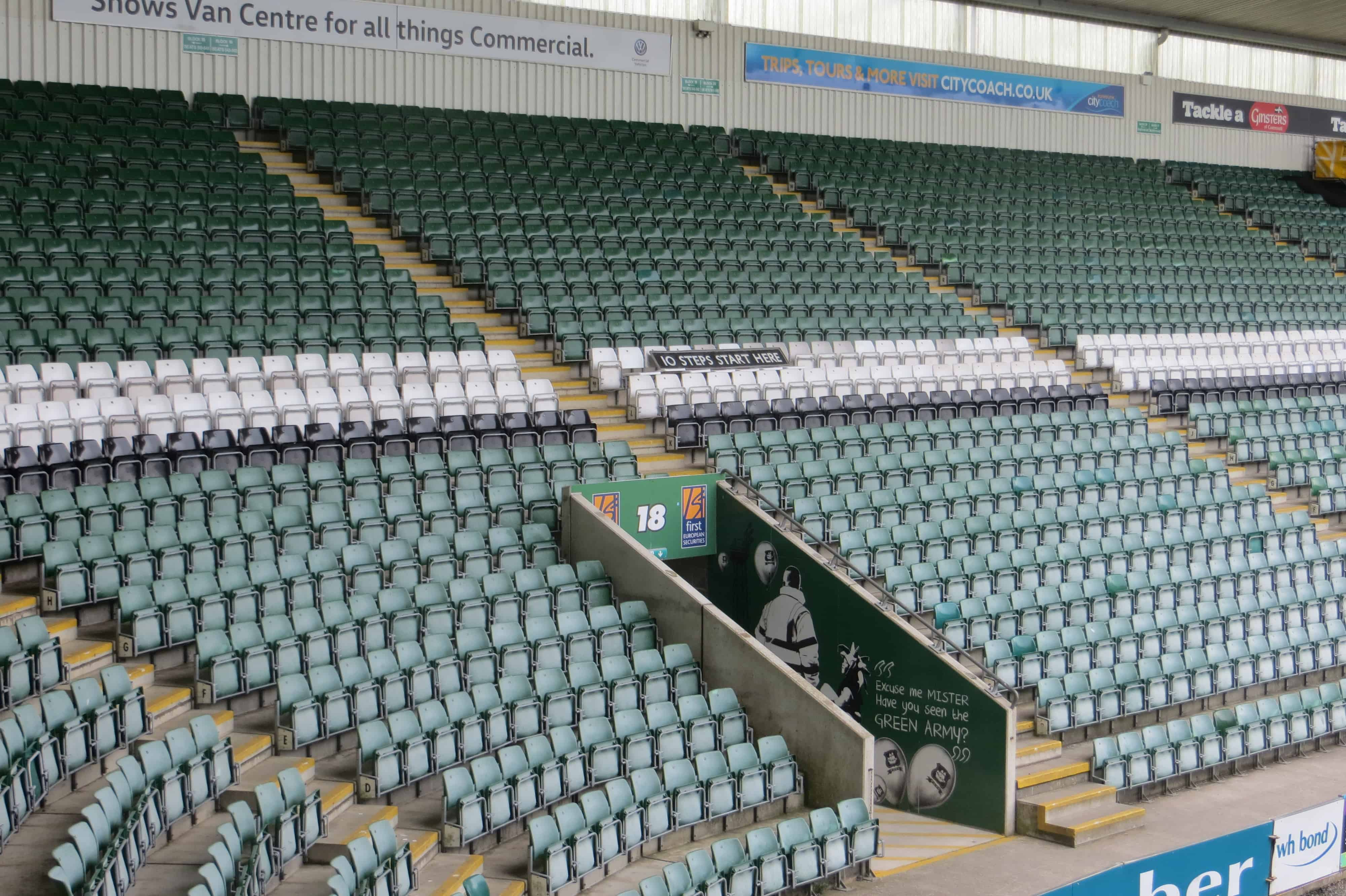 As a parting shot, the 10 Steps sign had to be reunited with the Barn Park End!