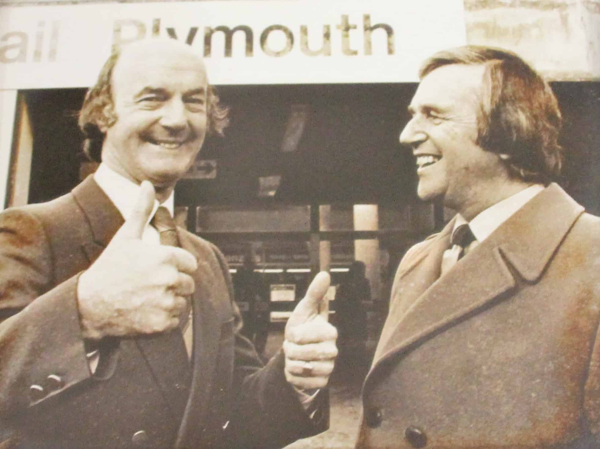 ... and welcoming Dave Smith to Plymouth in November 1984